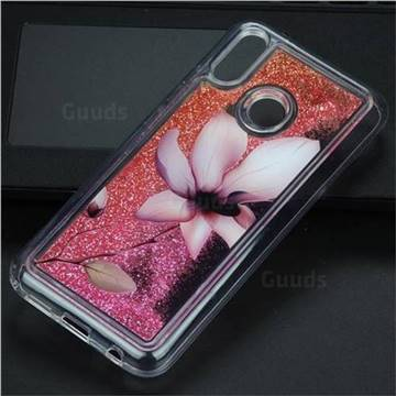 Lotus Glassy Glitter Quicksand Dynamic Liquid Soft Phone Case for Huawei P20 Lite
