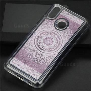 Mandala Glassy Glitter Quicksand Dynamic Liquid Soft Phone Case for Huawei P20 Lite