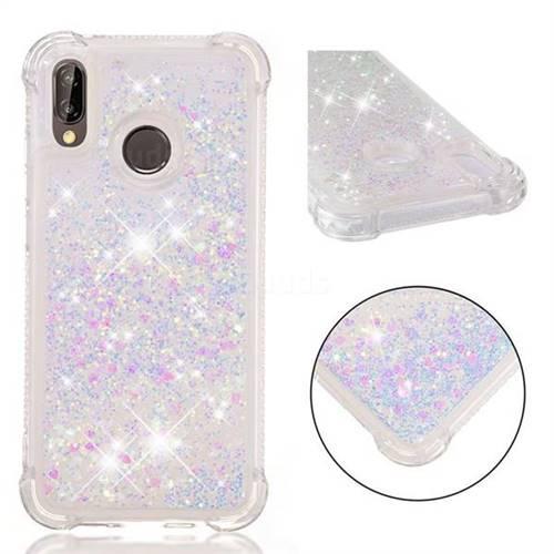 Dynamic Liquid Glitter Sand Quicksand Star TPU Case for Huawei P20 Lite - Pink