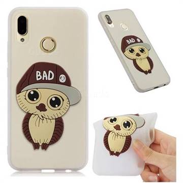 Bad Boy Owl Soft 3D Silicone Case for Huawei P20 Lite - Translucent White