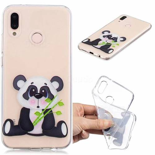 Bamboo Panda Clear Varnish Soft Phone Back Cover for Huawei P20 Lite