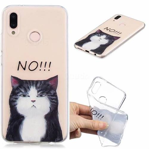 No Cat Clear Varnish Soft Phone Back Cover for Huawei P20 Lite