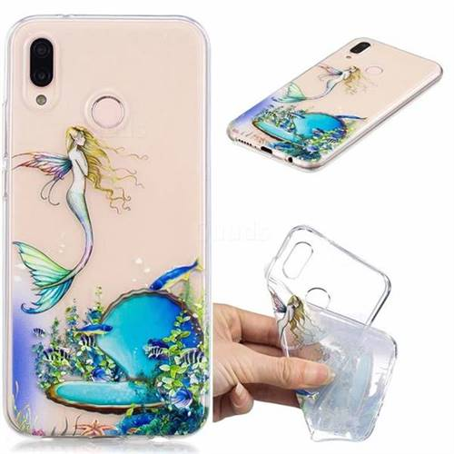 Mermaid Clear Varnish Soft Phone Back Cover for Huawei P20 Lite