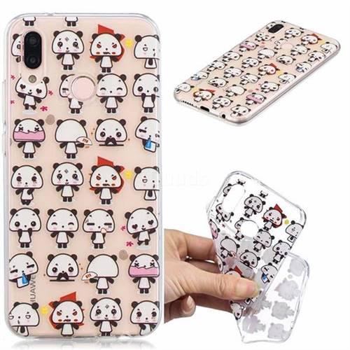 Mini Panda Clear Varnish Soft Phone Back Cover for Huawei P20 Lite