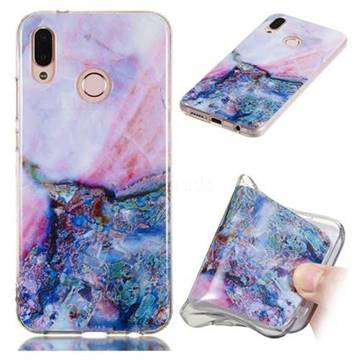 Purple Amber Soft TPU Marble Pattern Phone Case for Huawei P20 Lite