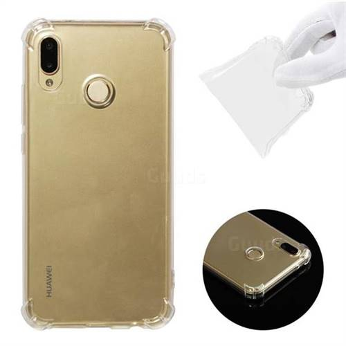 Anti-fall Clear Soft Back Cover for Huawei P20 Lite - Transparent