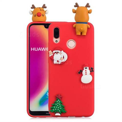 Red Elk Christmas Xmax Soft 3D Silicone Case for Huawei P20 Lite