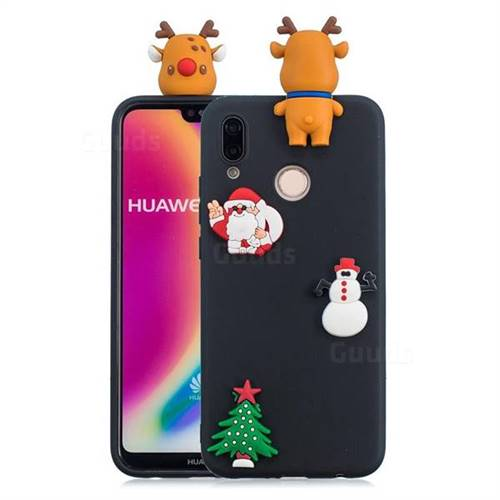 Black Elk Christmas Xmax Soft 3D Silicone Case for Huawei P20 Lite