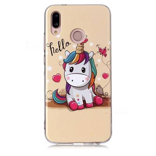 design senza tempo 41caa fb5b9 Hello Unicorn Soft TPU Cell Phone Back Cover for Huawei P20 Lite