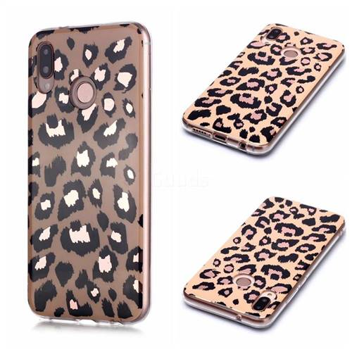 Leopard Galvanized Rose Gold Marble Phone Back Cover for Huawei P20 Lite