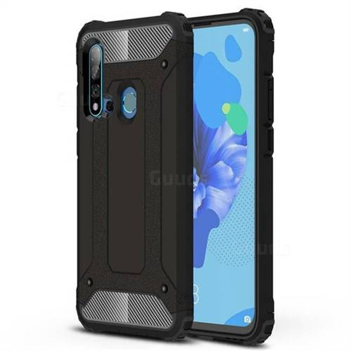 King Kong Armor Premium Shockproof Dual Layer Rugged Hard Cover for Huawei P20 Lite(2019) - Black Gold