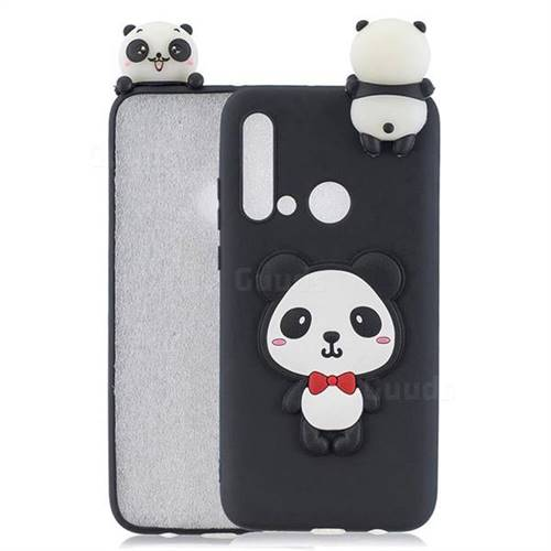 Red Bow Panda Soft 3D Climbing Doll Soft Case for Huawei P20 Lite(2019)