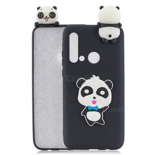 Blue Bow Panda Soft 3D Climbing Doll Soft Case for Huawei P20 Lite(2019)