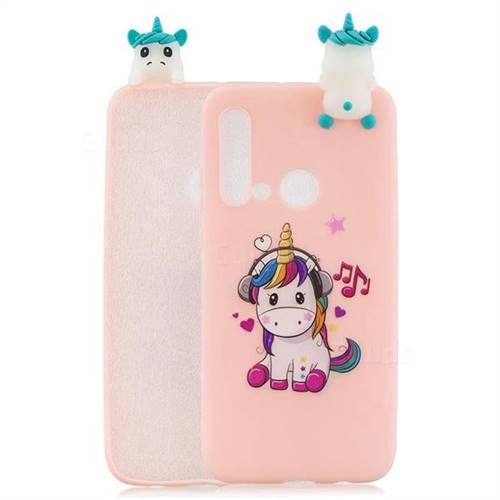 Music Unicorn Soft 3D Climbing Doll Soft Case for Huawei P20 Lite(2019)
