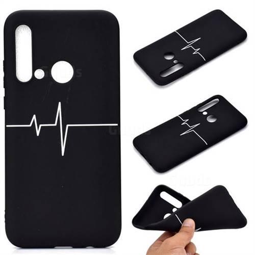 Electrocardiogram Chalk Drawing Matte Black TPU Phone Cover for Huawei P20 Lite(2019)