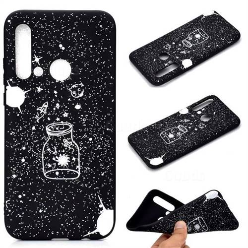 Travel The Universe Chalk Drawing Matte Black TPU Phone Cover for Huawei P20 Lite(2019)