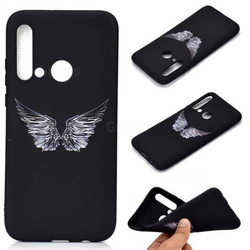 Wings Chalk Drawing Matte Black TPU Phone Cover for Huawei P20 Lite(2019)