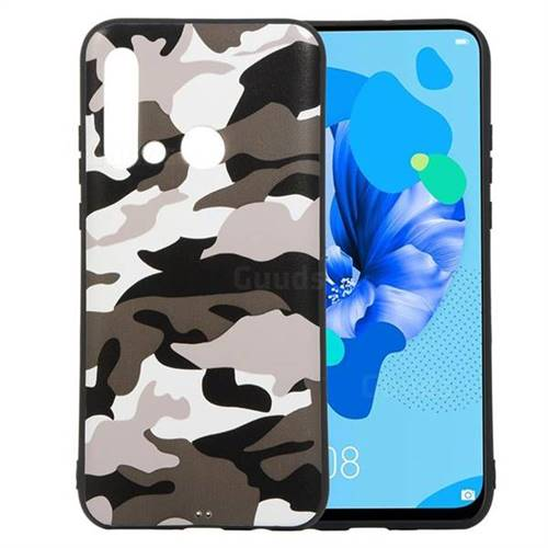 Camouflage Soft TPU Back Cover for Huawei P20 Lite(2019) - Black White