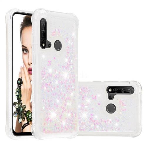 Dynamic Liquid Glitter Sand Quicksand Star TPU Case for Huawei P20 Lite(2019) - Pink