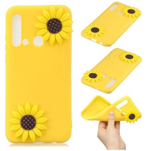 Yellow Sunflower Soft 3D Silicone Case for Huawei P20 Lite(2019)