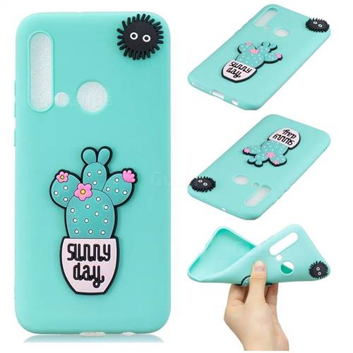 Cactus Flower Soft 3D Silicone Case for Huawei P20 Lite(2019)