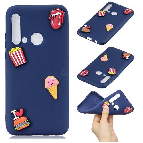 I Love Hamburger Soft 3D Silicone Case for Huawei P20 Lite(2019)