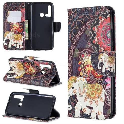 Totem Flower Elephant Leather Wallet Case for Huawei P20 Lite(2019)