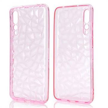 Diamond Pattern Shining Soft TPU Phone Back Cover for Huawei P20 Pro - Pink