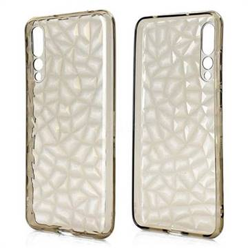 Diamond Pattern Shining Soft TPU Phone Back Cover for Huawei P20 Pro - Gray