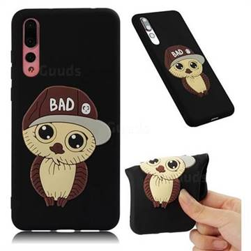 Bad Boy Owl Soft 3D Silicone Case for Huawei P20 Pro - Black