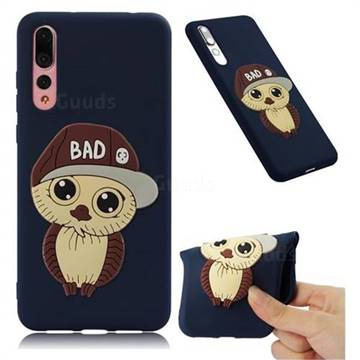 Bad Boy Owl Soft 3D Silicone Case for Huawei P20 Pro - Navy