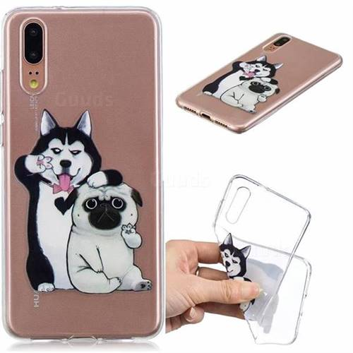 Selfie Dog Clear Varnish Soft Phone Back Cover for Huawei P20 Pro