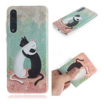 Black and White Cat IMD Soft TPU Cell Phone Back Cover for Huawei P20 Pro