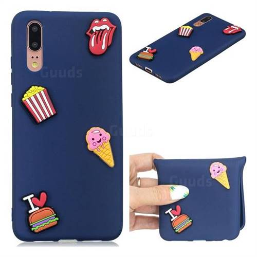 I Love Hamburger Soft 3D Silicone Case for Huawei P20 Pro