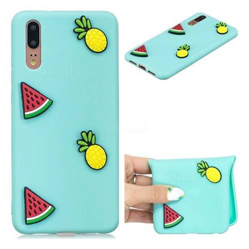 Watermelon Pineapple Soft 3D Silicone Case for Huawei P20 Pro