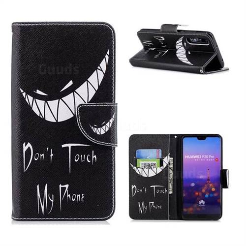 Crooked Grin Leather Wallet Case for Huawei P20 Pro
