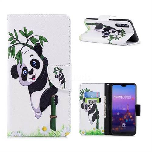Bamboo Panda Leather Wallet Case for Huawei P20 Pro