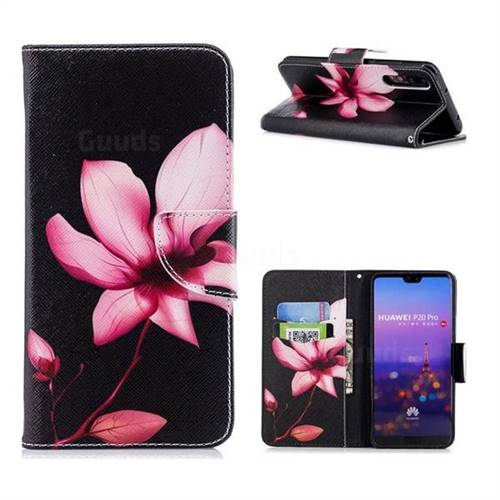 Lotus Flower Leather Wallet Case for Huawei P20 Pro