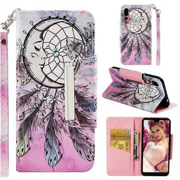 Angel Monternet Big Metal Buckle PU Leather Wallet Phone Case for Huawei P20 Pro