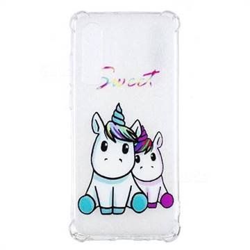 Sweet Unicorn Anti-fall Clear Varnish Soft TPU Back Cover for Huawei P30
