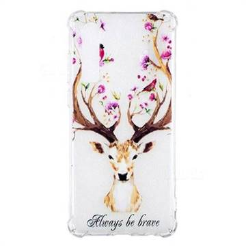 Always be Brave Anti-fall Clear Varnish Soft TPU Back Cover for Huawei P30