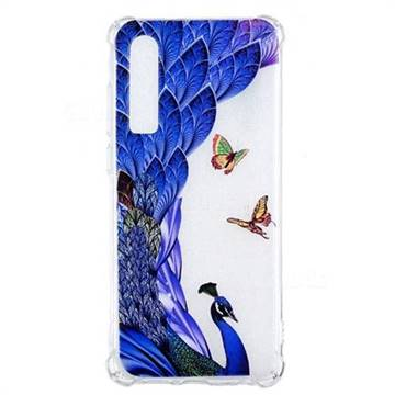 Peacock Butterfly Anti-fall Clear Varnish Soft TPU Back Cover for Huawei P30