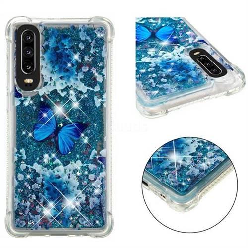 Flower Butterfly Dynamic Liquid Glitter Sand Quicksand Star TPU Case for Huawei P30