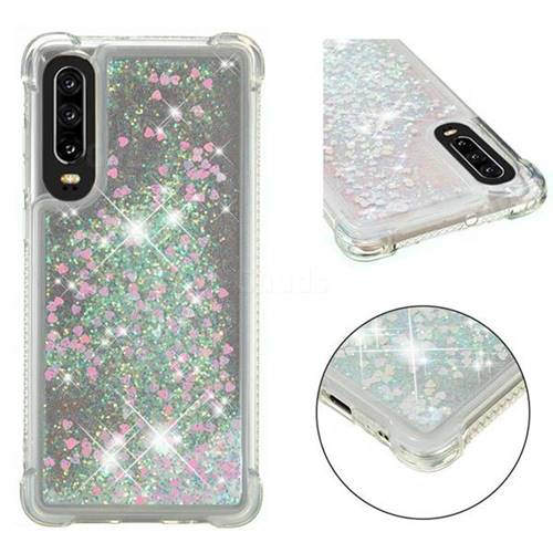 Dynamic Liquid Glitter Sand Quicksand Star TPU Case for Huawei P30 - Pink