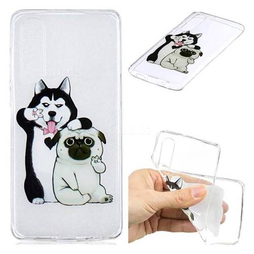 Selfie Dog Clear Varnish Soft Phone Back Cover for Huawei P30
