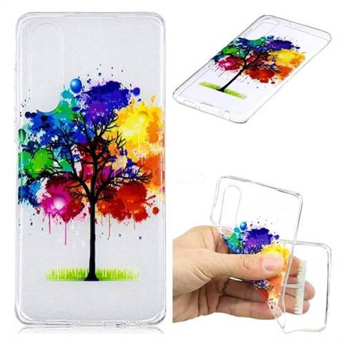 Oil Painting Tree Clear Varnish Soft Phone Back Cover for Huawei P30