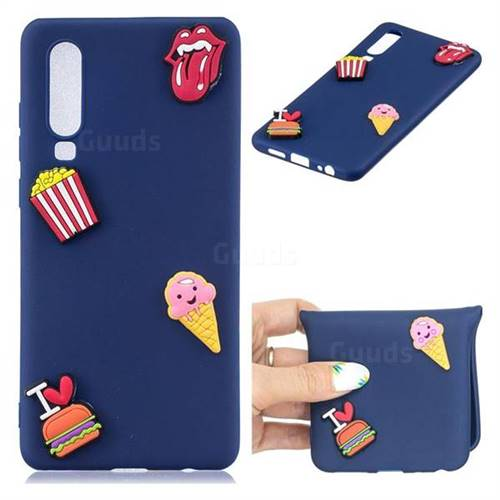 I Love Hamburger Soft 3D Silicone Case for Huawei P30