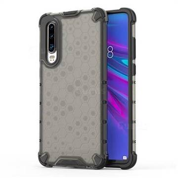 Honeycomb TPU + PC Hybrid Armor Shockproof Case Cover for Huawei P30 - Gray