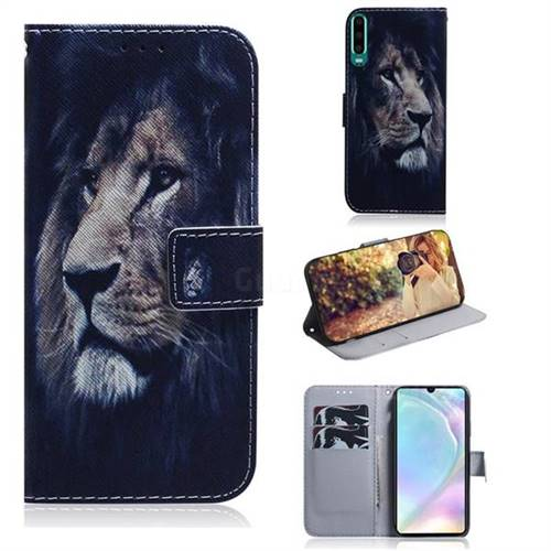 Lion Face PU Leather Wallet Case for Huawei P30