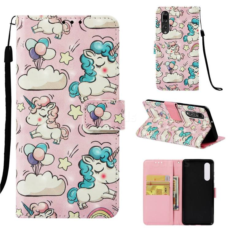 Angel Pony 3D Painted Leather Wallet Case for Huawei P30